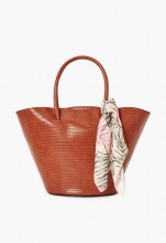 Flare Out Scarf Tote - Cognac